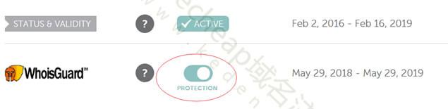 Namecheap域名隐私保护